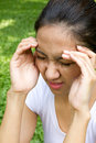 Headache syndrome Stock Photography