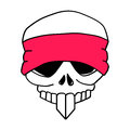 Headbanded Skull Stock Photos
