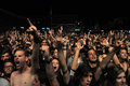 Headbanging crowd at a rock concert Royalty Free Stock Photo