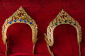 Headdress object for showing in red background Royalty Free Stock Image