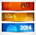 Headers and banners set new year colorful design Stock Images