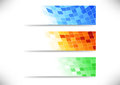 Headers collection abstract tiles background clip art Stock Photography