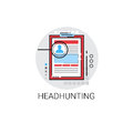 Headhunting Curriculum Vitae Document Resume CV Profile Icon