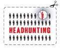 Headhunting poster illustrated for a the concept of uniqueness Stock Images