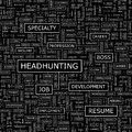 Headhunting seamless pattern word cloud illustration Stock Photo