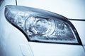 Headlamp on luxury car Stock Images