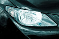 Headlamp on luxury car Royalty Free Stock Images