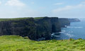 Headland at cliffs of moher in south western ireland in burren region county clare Royalty Free Stock Image