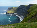 Headland at cliffs of moher in south western ireland in burren region county clare Stock Image