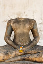 Headless buddha image of due to damaged thailand Stock Photography