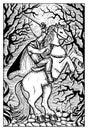 Headless Horseman in the fool moon night Royalty Free Stock Photo