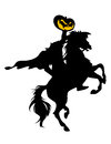 Headless horseman silhouette of the Stock Image