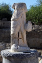 Headless statue near theater in salamis north cyprus Stock Images