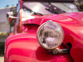 Headlight of an antique car close up detail the Stock Photography