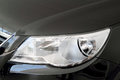 Headlight black car clipping path on object Stock Photography