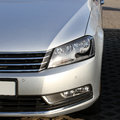 Headlight on brand new silver car Stock Photo