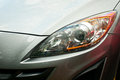 Headlight of grey car Royalty Free Stock Photo