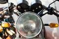 Headlight motorcycle Royalty Free Stock Photo