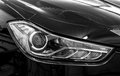 Headlights of car closeup black and white photo Royalty Free Stock Photos