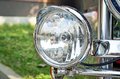 Headlights of the motorcycle Royalty Free Stock Photo