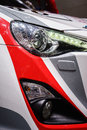 Headlights of a sport car motor show geneve Royalty Free Stock Photo