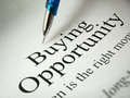 The headline of the buying opportunities Stock Photography