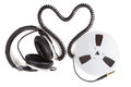 Headphone cord from a heart shape Royalty Free Stock Photo