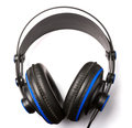 Headphone on white background top view Stock Photography