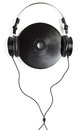 Headphones on CD Royalty Free Stock Photography