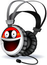 Headphones character. Royalty Free Stock Images