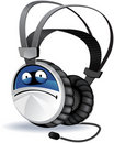 Headphones character. Stock Photos