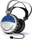 Headphones character Royalty Free Stock Image