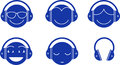 Headphones Emotions Royalty Free Stock Photos