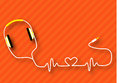 Headphones heart Royalty Free Stock Photo