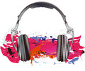 Headphones illustration Royalty Free Stock Photos
