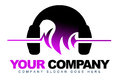 Headphones Music Logo Stock Photo