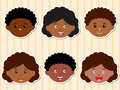 Heads Of African-American Girl...