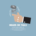 Heads Or Tails Cast Lots Concept