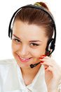 Headset woman from call center Stock Image