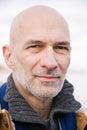 Headshot of a bald man Royalty Free Stock Photo