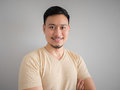 Headshot of happy Asian man. Royalty Free Stock Photo