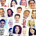 Headshot picture of multi ethnic group people smiling Royalty Free Stock Image