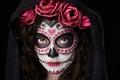 Headshot of skull face Royalty Free Stock Photo