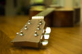 Headstock of acoustic guitar