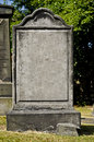 Headstone blank in a cemetery Royalty Free Stock Images