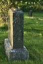 Headstone a blank at sunset Royalty Free Stock Photo