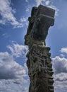 Headstone celtic devenish island county fermanagh northern ireland Royalty Free Stock Photo