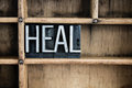 Heal Concept Metal Letterpress Word in Drawer Royalty Free Stock Photo