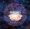 Reiki Share Healing Word Cloud Royalty Free Stock Photo