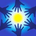 Healing energy hands